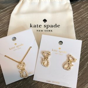 NWT Kate Spade Jazz things up cat jewelry set